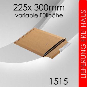 500x Wellpappversandtasche 1515 - 225x 300mm