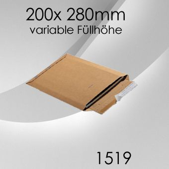 100x Wellpappversandtasche 1519 - 200x 280mm (DIN A5+)