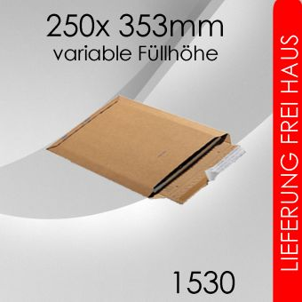1.200x  Wellpappversandtasche 1530 - 250x 353mm (DIN A4)
