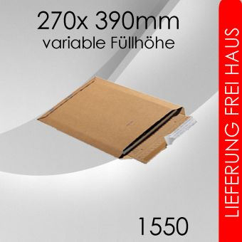 300x Wellpappversandtasche 1550 - 270x 390mm
