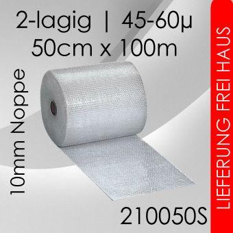 2x Luftpolsterfolie 50cm x 100m - Standard