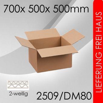 150x Faltkarton 2-wellig DM80 - 700x 500x 500mm