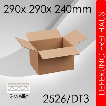 OVE 55x Faltkarton 2-wellig DT3 - 290x 290x 240mm