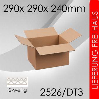 165x Faltkarton 2-wellig DT3 - 290x 290x 240mm