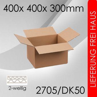 300x Faltkarton 2-wellig DK50 - 400x 400x 300mm