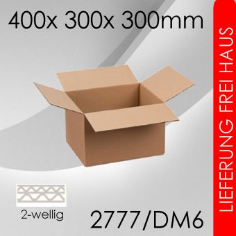 900x Faltkarton 2-wellig DM6 - 400x 300x 300mm
