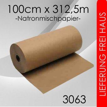 OVE 1x Packpapier 100cm x 312,5m - 80g/m² braun