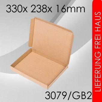2.400x Großbriefkarton Gr. 2 - 330x 238x 16mm