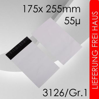 OVE 5.000x LeoBag Folienversandtaschen Gr. 1 - 175 x 255mm (DIN A5+)