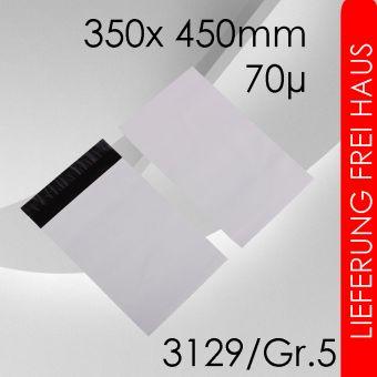 1000x LeoBag Folienversandtaschen Gr. 5 - 350 x 450mm
