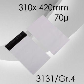 100x LeoBag Folienversandtaschen Gr. 4 - 310 x 420mm (DIN A4+)