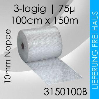 1x Luftpolsterfolie 3-lagig - 150cm x 100m - Business
