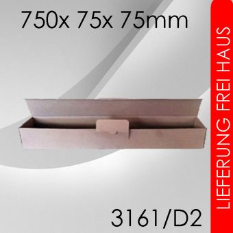 600x Posterverpackung D2 (DIN A1+) - 750x 75x 75mm