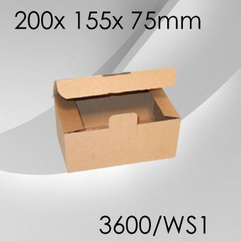100x Warensendungskarton Gr. 1 - 200x 155x 75mm