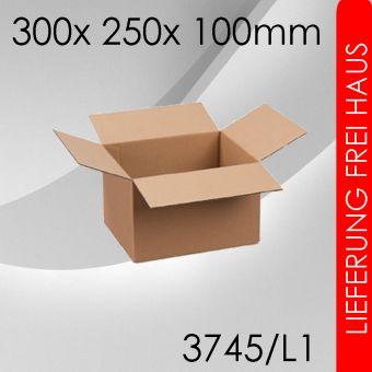 1.750x Faltkarton L1 - 300x 250x 100mm