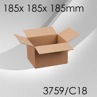 50x Faltkarton C18 - 185x 185x 185mm