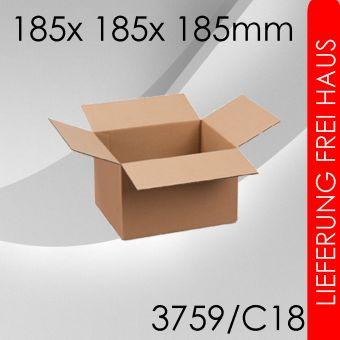 2.100x Faltkarton C18- 185x 185x 185mm