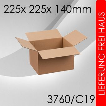 1.750x Faltkarton C19 - 225x 225x 140mm