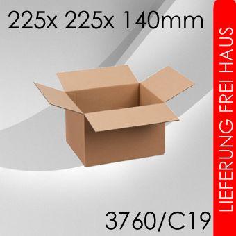 600x Faltkarton C19 - 225x 225x 140mm