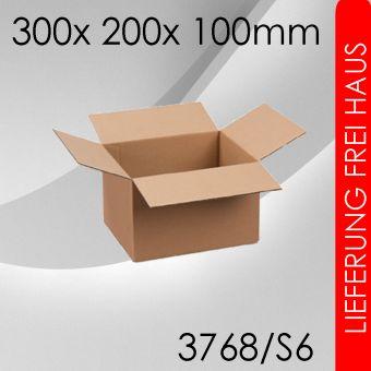 2.100x Faltkarton S6 - 300x 200x 100mm