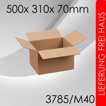OVE 100x Faltkarton M40 - 500x 310x 70mm