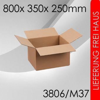 100x Faltkarton M37 - 800x 350x 250mm