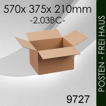 POSTEN 200x Faltkarton 2-wellig - 570x 375x 210mm