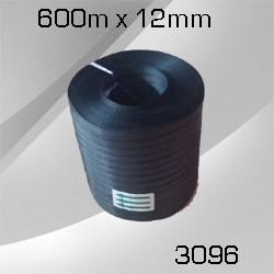 1 Rolle PP-Umreifungsband schwarz 12mm x 600m