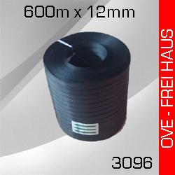 10 Rollen PP-Umreifungsband schwarz 12mm x 600m